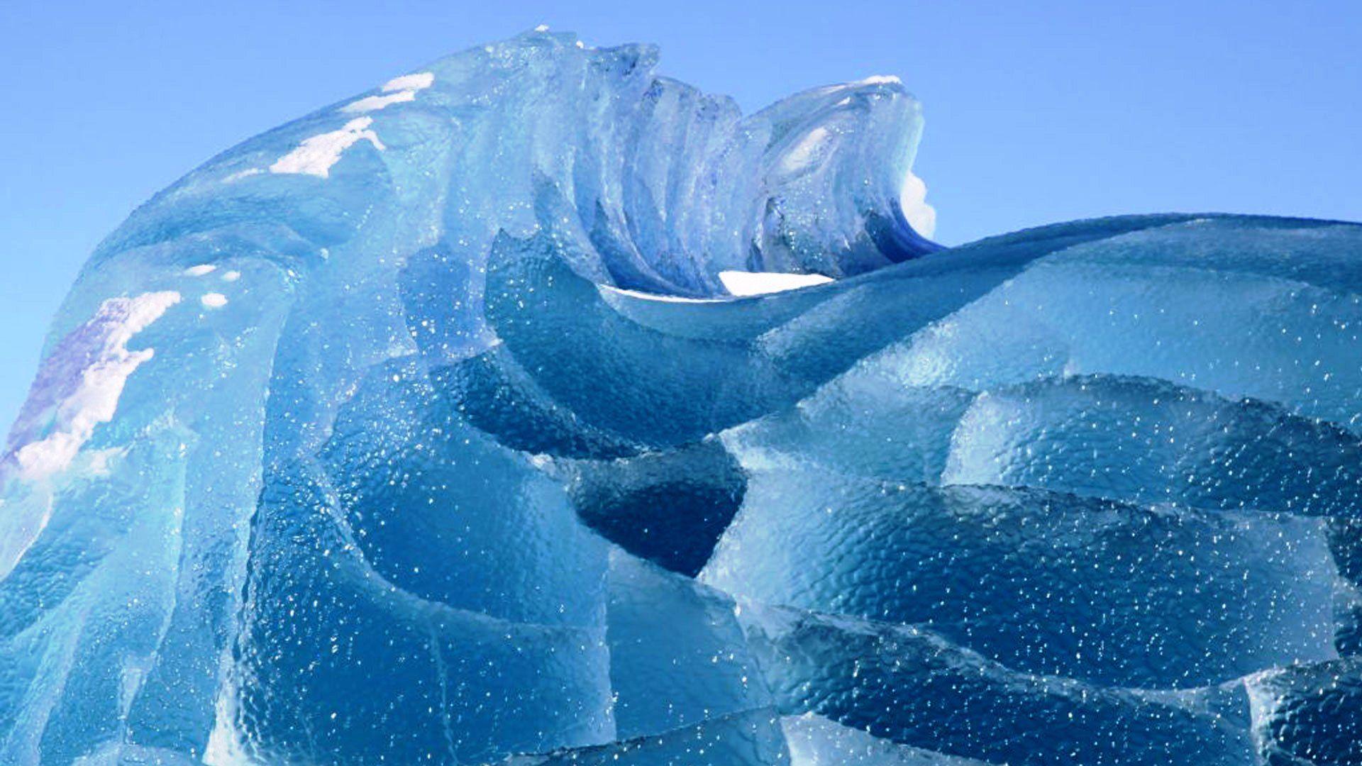 замерзли волны фото больше