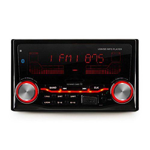 Autoradio digital con interfaces Bluetooth, USB y SD, entrada AUX ysintonizador de radio de FM. Potencia máxima de salida de 4 x 75W y posibilidad de conectar conamplificadores externos de 2-4 canales. Retroiluminación de carcasa y pantalla en 3 colores (rojo, azul,verde). La autoradioMD-200 2G... http://altavocespara.com/coche/auna/auna-md-200-2g-bt-radio-para-coche-2-din-bluetooth-radio-fm-4x75w-potencia-maxim-microfono-integrado-ecualizados-2-bandas/