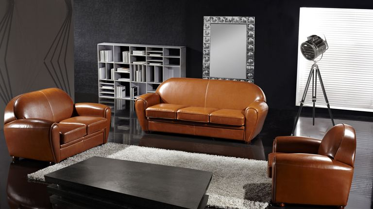 canape-salon-ensemble-style-club-cuir-bycast-design-mobilier ...