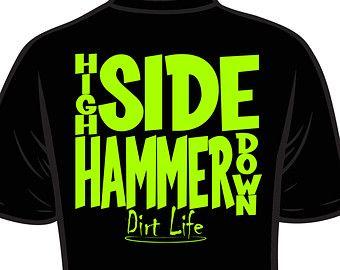 DIRT LIFE - High SIde Hammer Down Neon Print Racing Shirts ...