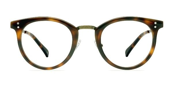 Yoke past and future with these nostalgic caramel eyeglasses. This preppy frame is hand made from premium Italian acetate in a glamorous semi-transparent marbled honey finish and fused with high-end Italian hinges. A metal nose bridge and double stud accents add a preppy panache to this dazzling Tokyo-inspired look that glorifies your fusing passions for traditional culture and everything new. @EyeBuyDirect