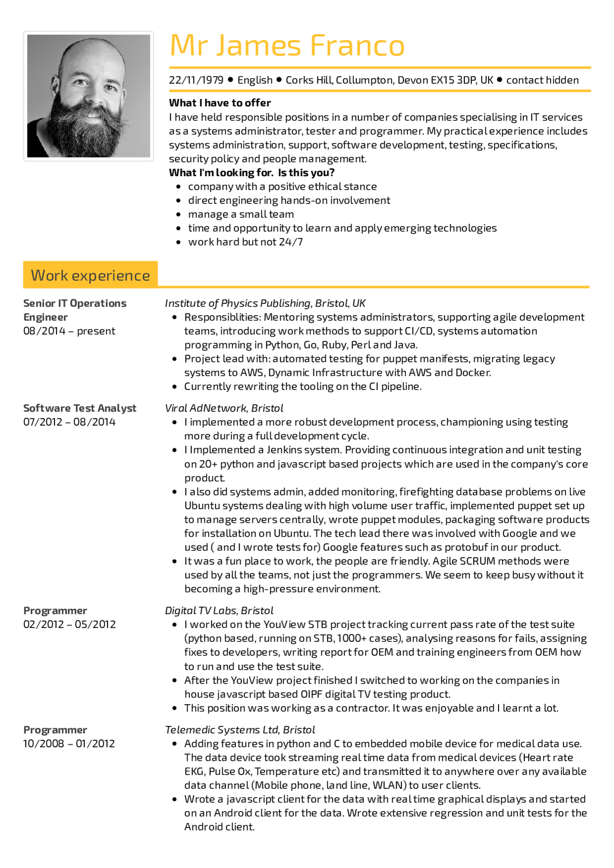 Resume Examples By Real People Senior It Operations Engineer Resume Image Result For Resume Resume E Resume Examples Engineering Resume Good Resume Examples