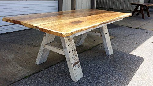 _^=\' Handmade Furniture Rustic Live Edge Spalted Oak Dining Table ...