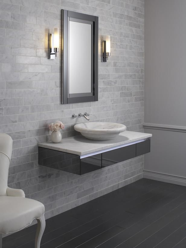 Floating Bathroom Vanity House Construction Planset of dining room