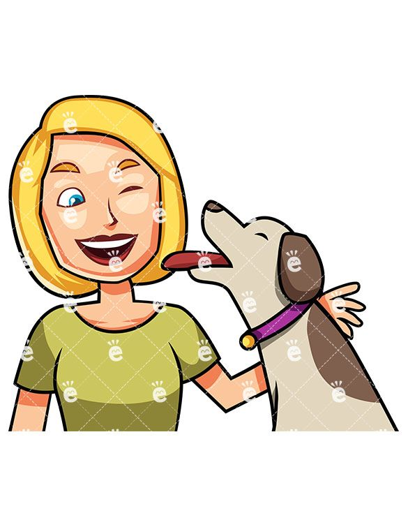 An Ecstatic Dog Giving Kisses To A Smiling Woman: #adorable #affection  #affectionate