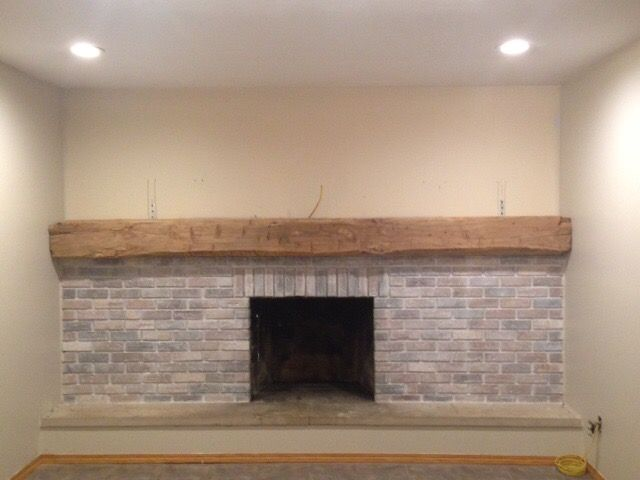 Image Result For Brick Half Wall Fireplace Fireplace Makeover White Wash Brick Fireplace Brick Fireplace Makeover