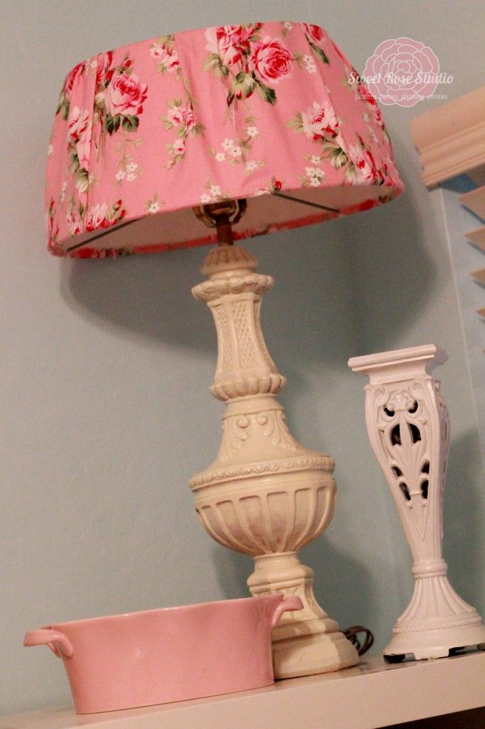 Lampshade Makeover Completed Product