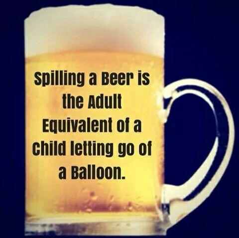 Beer spills