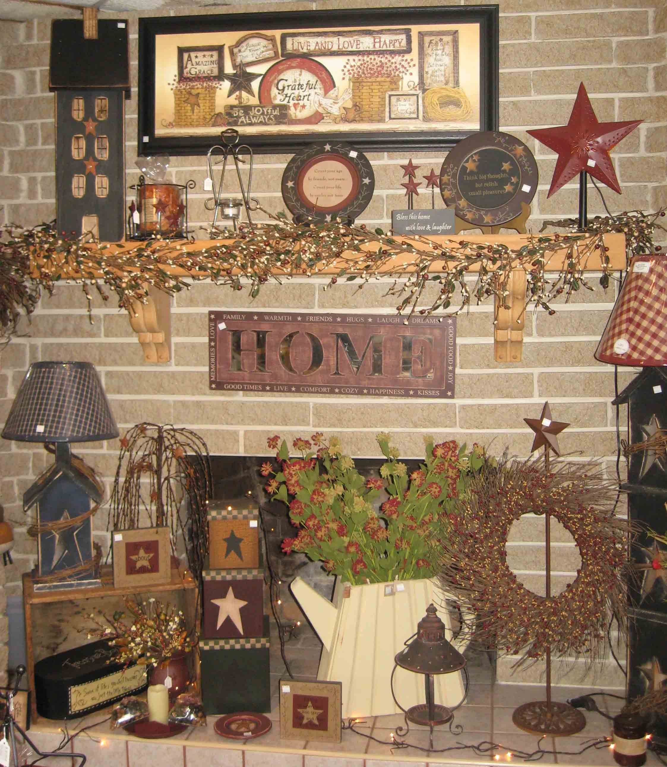 36 Stylish Primitive Home Decorating Ideas: Primitive Decor Ideas