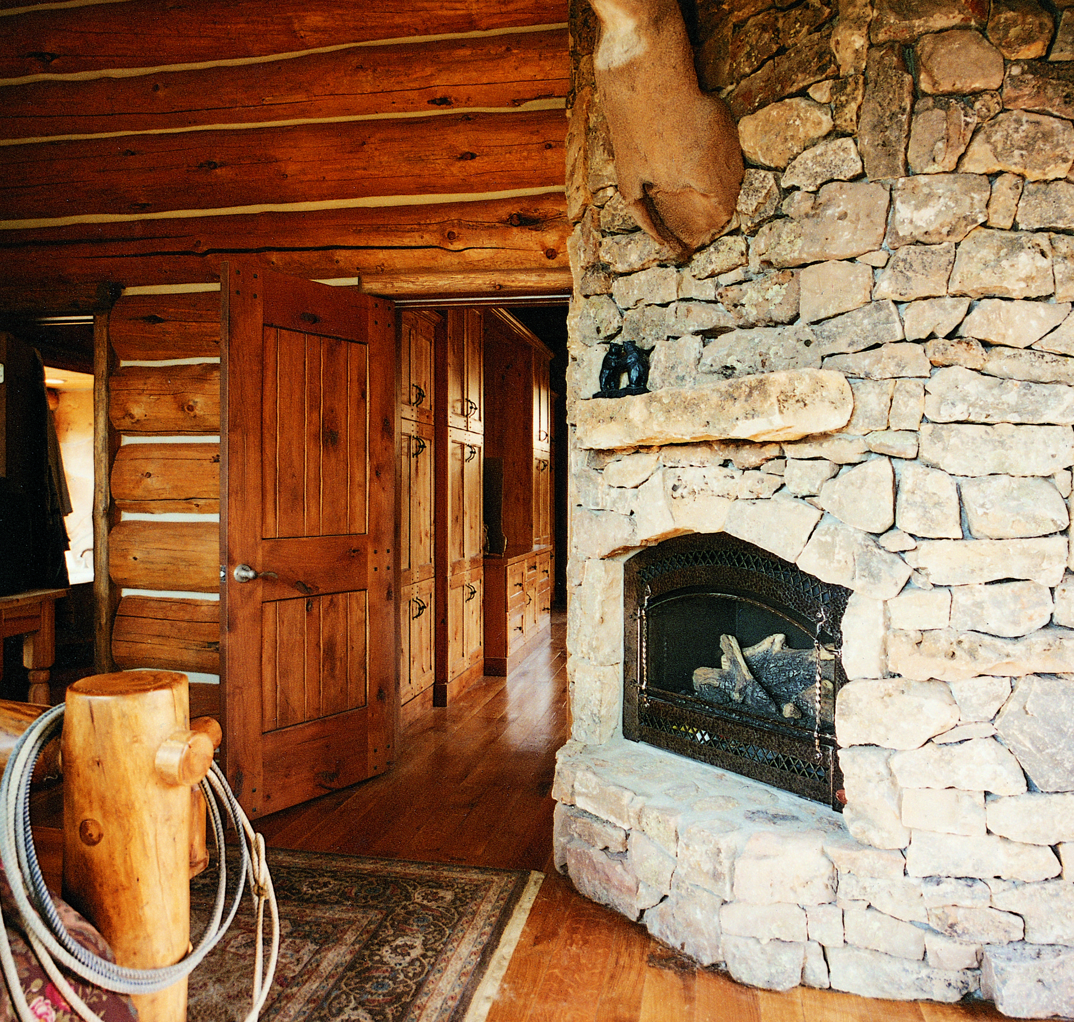 Cowboy Rustic Interior Door (Square Top Rail, 2-Panel