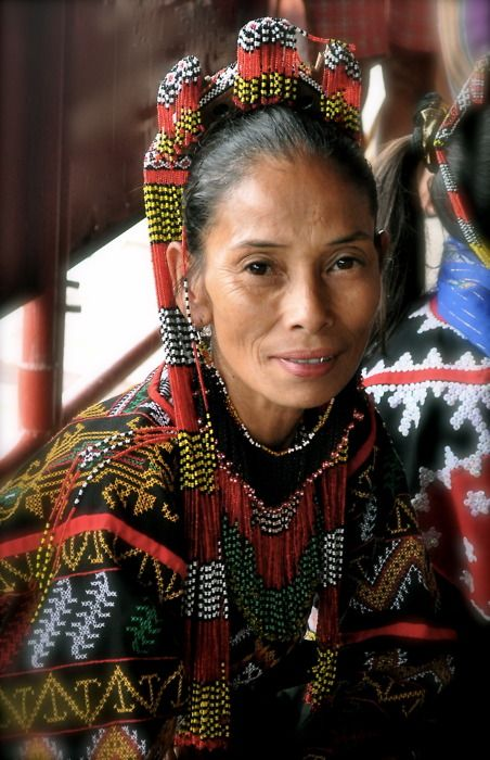 Philippines | T'boli Woman at Lake Sebu, South Cotabato | Photographer unknown. people photography, world people, faces