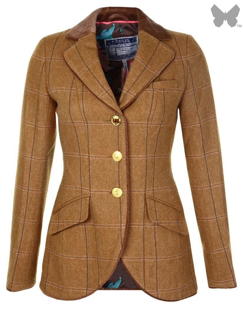 Joules Ladies' Parade Tweed Jacket - Harkworth Tweed S_PARADE ...