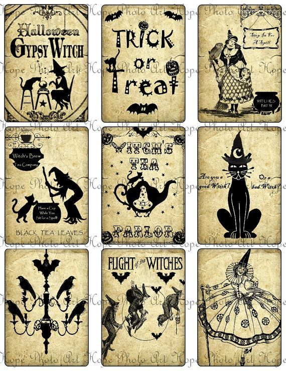 graphic about Vintage Halloween Printable identify Common Halloween Silhouettes Printable Every thing