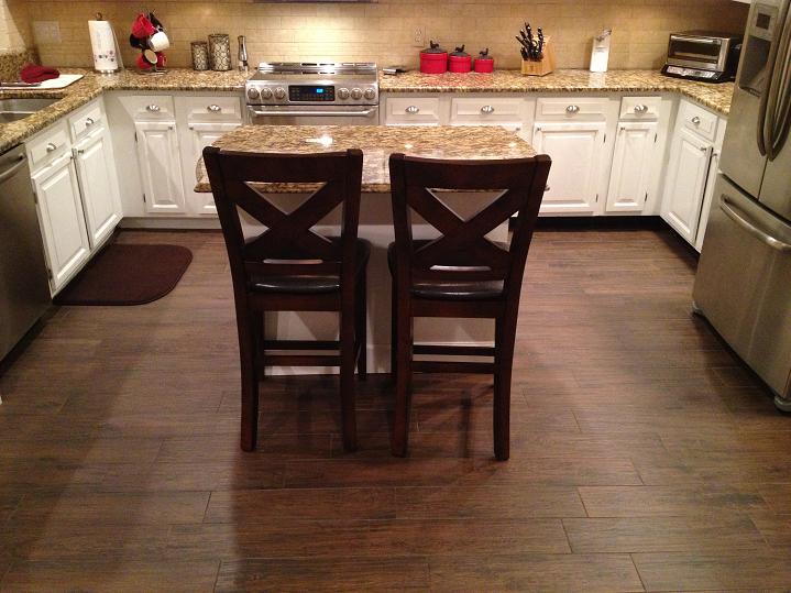 Tampa Florida Porcelain Wood Look Plank Tile Install Berkshire Olive