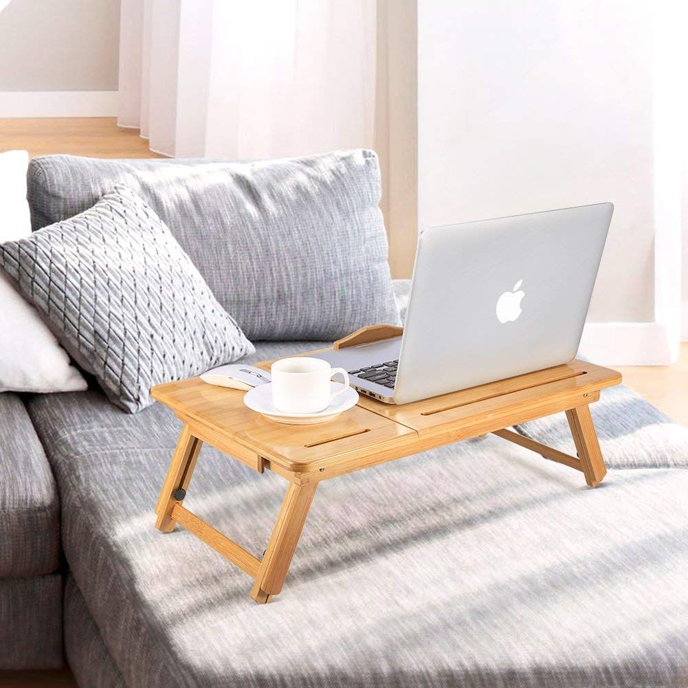 Details about DELUXE LARGE MEDIUM WOODEN BAMBOO LAPTOP