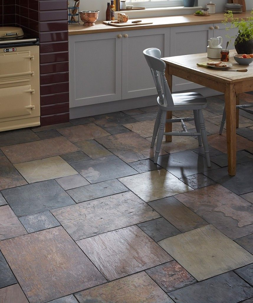 Tile Flooring For Kitchen: Natural Slate Sheera Modular