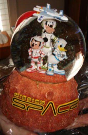 Disney Mission Space Snowglobe