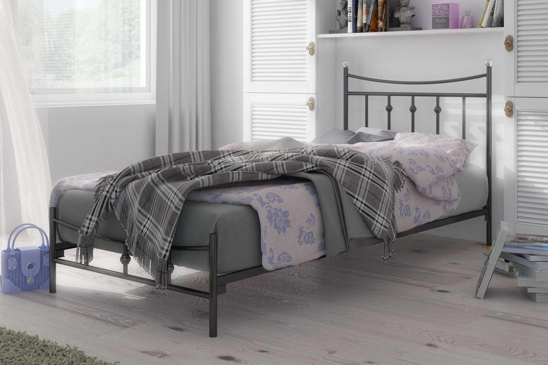 łóżko Metalowe Wzór 26 J Eleganckie Wezgłowie Z Odwróconym