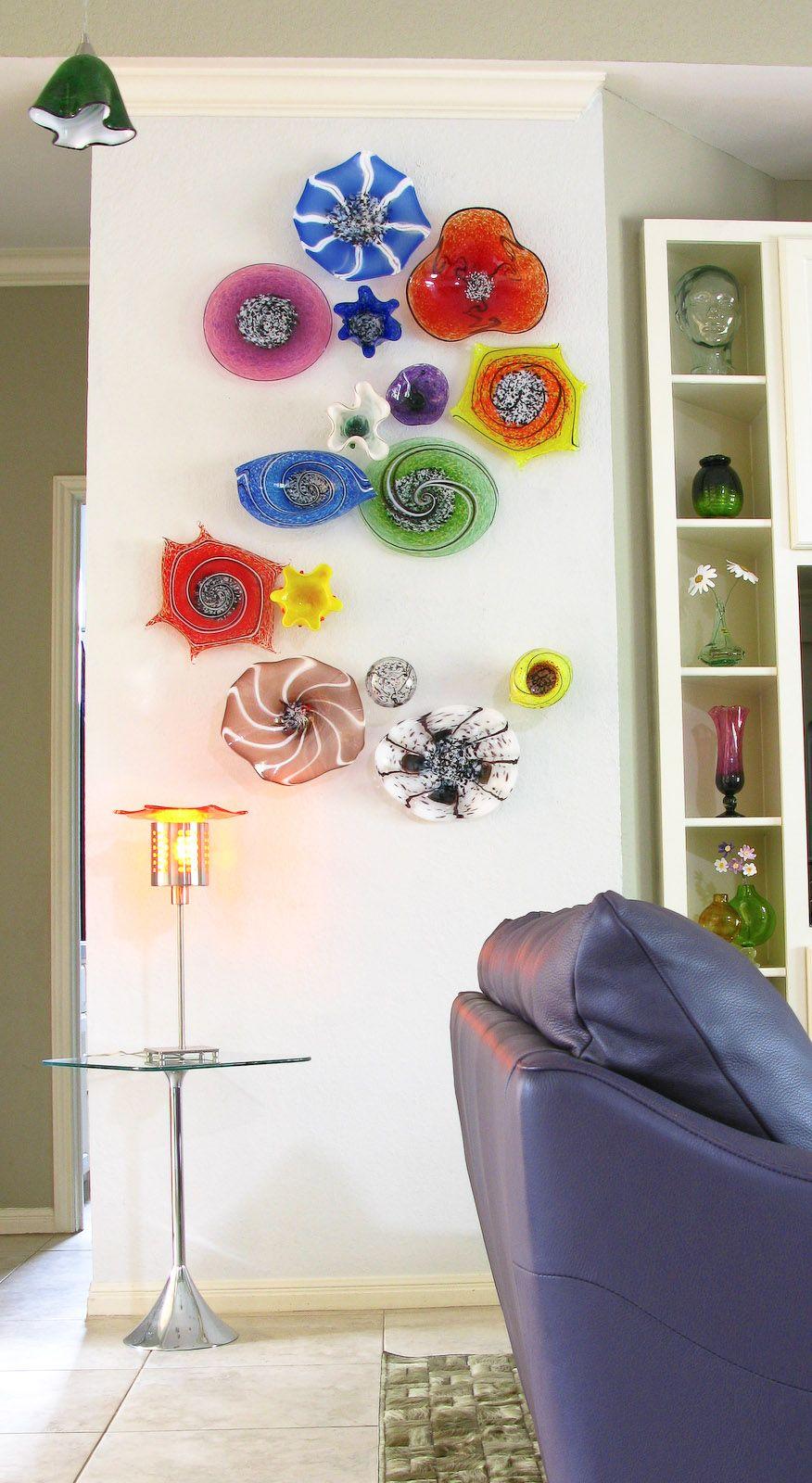 Dragon Series Wall Art Collection Blown Glass Wall Art Fused Glass Wall Art Glass Wall Art