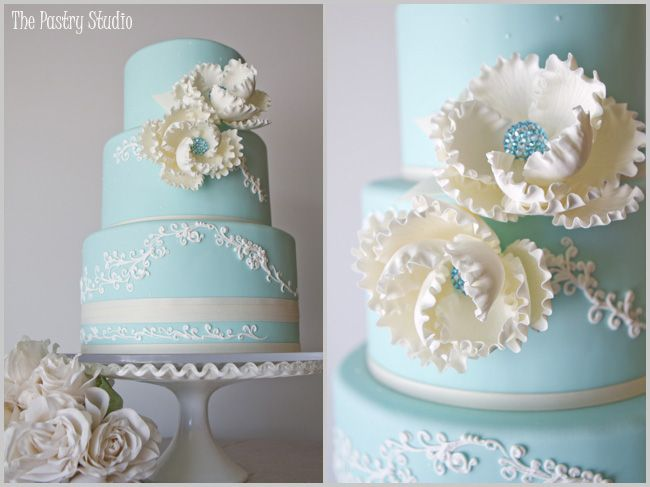 Tiffany Blue Cream Vintage Wedding Cake At The Shores Resort And Spa By Pastry