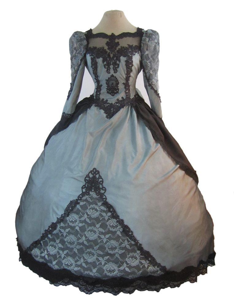 Gothic Halloween Steampunk Victorian Ball Gown Wedding Dress Vampire Masquerade #Vintage #BallGown #Formal