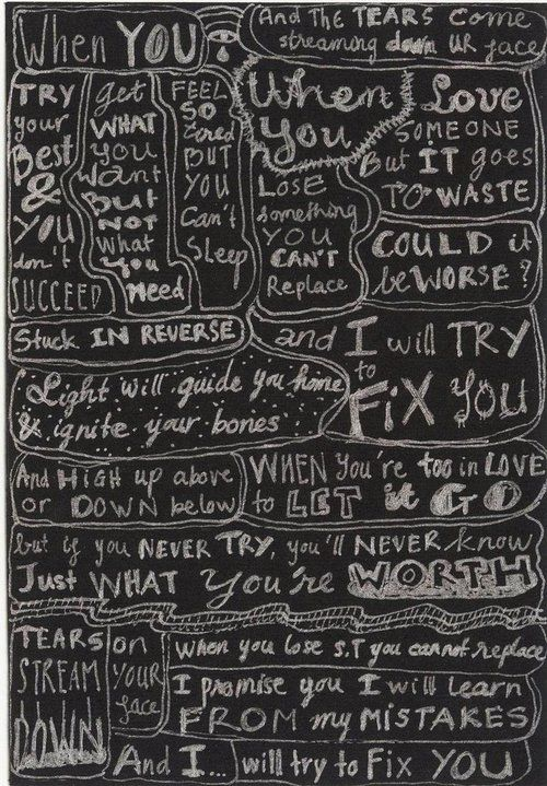 I Will Try To Fix You With Images Fix You Coldplay Coldplay