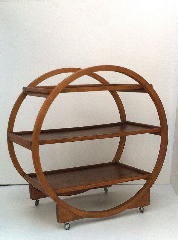 Superieur Art Deco Circular Drinks Trolley, Art Deco Round Serving Trolley, Antique  1920u0027s Iconic Furniture