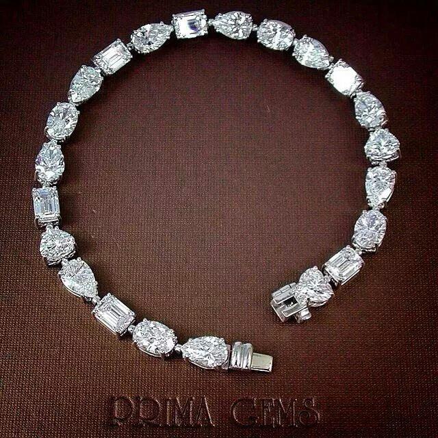 Mix Shape Diamonds Bracelet All D Color Vvs Vs Gia Size 0 51 0 55 Ct Total 23 11 5 Tennis Bracelet Diamond Sterling Silver Bracelets Diamond Bracelet