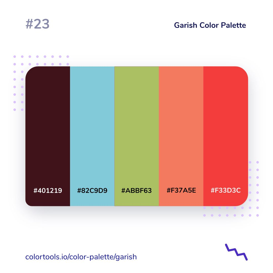 Garish Color Palette In 2021 Color Palette Color Palette Light Blue Shades Of Red Color