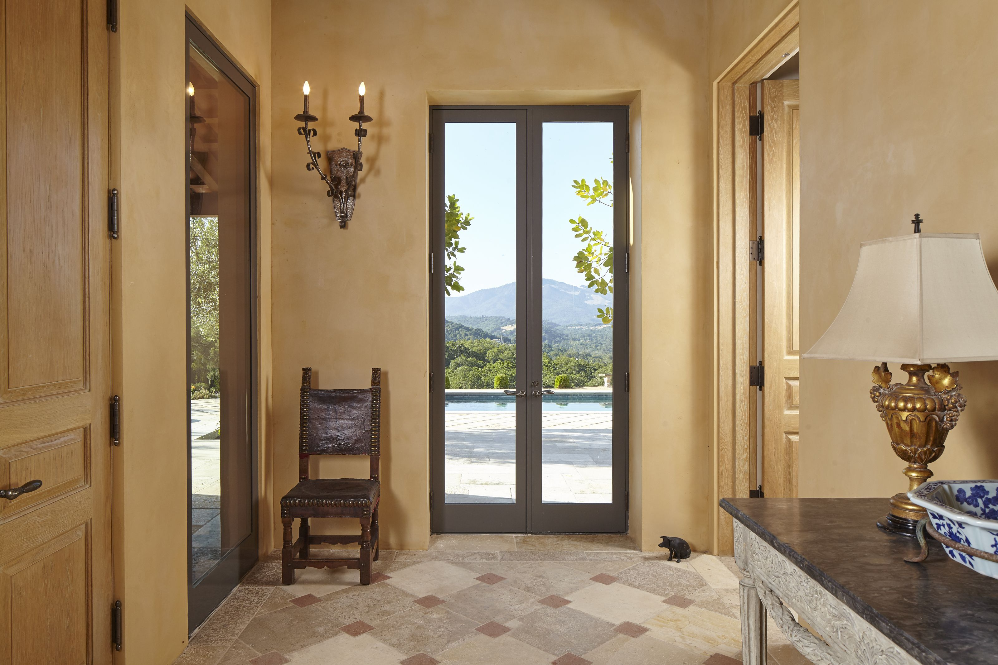 Foyer entry with views to outside