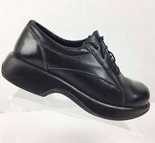 Dansko Women's Black Leather Comfort Shoes Size  EU 39 US 8.5 - 9