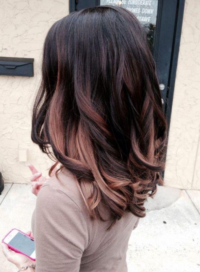 ombr hair sur base brune la couleur qui cartonne en 2016 54 photos tendance coiffure. Black Bedroom Furniture Sets. Home Design Ideas