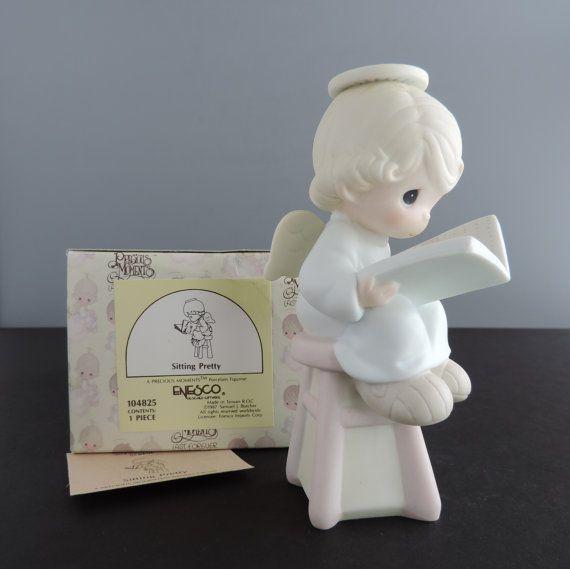 vintage precious moments sitting pretty figurine by thelogchateau