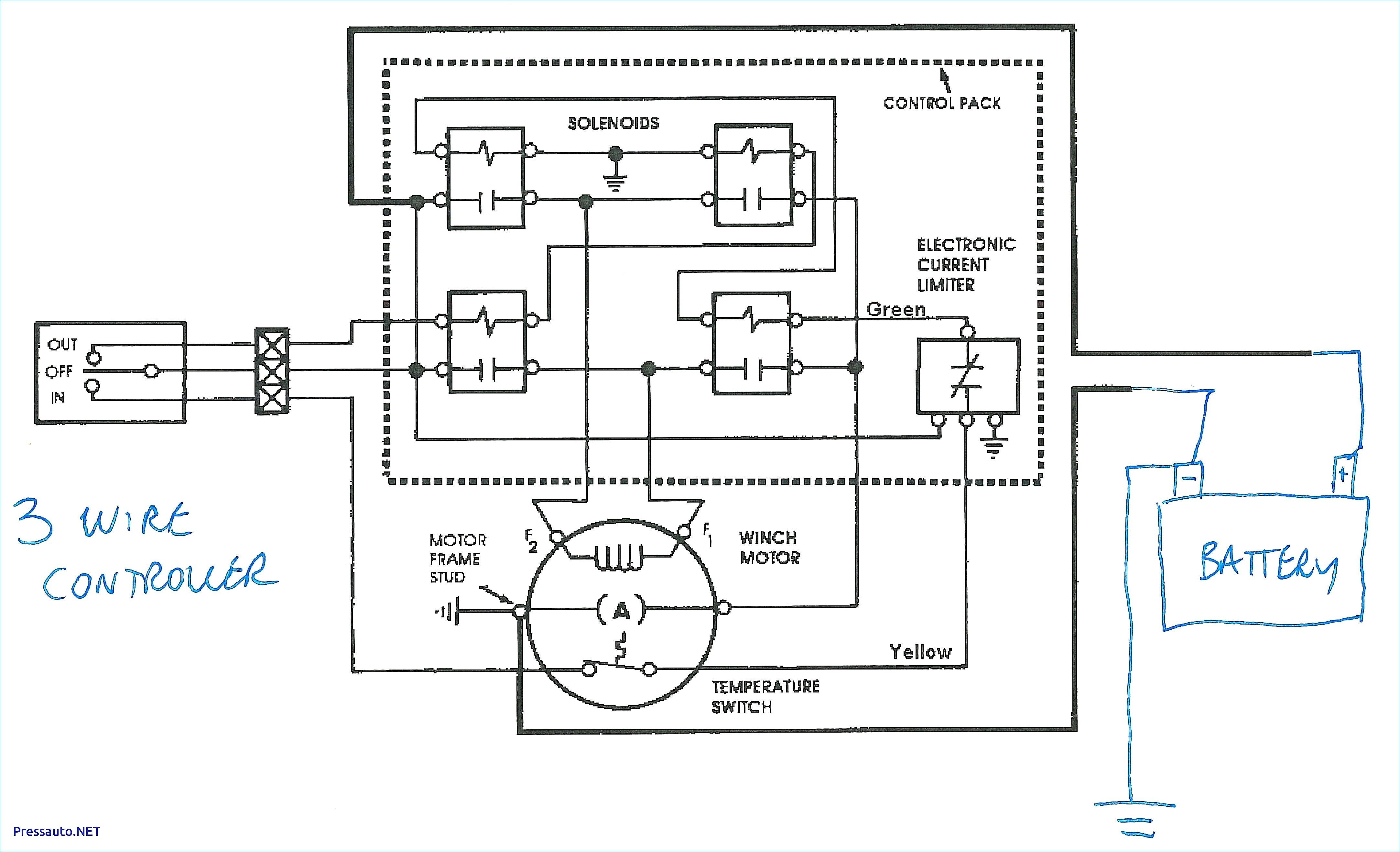 Winch Wiring Diagram Two Solenoid In