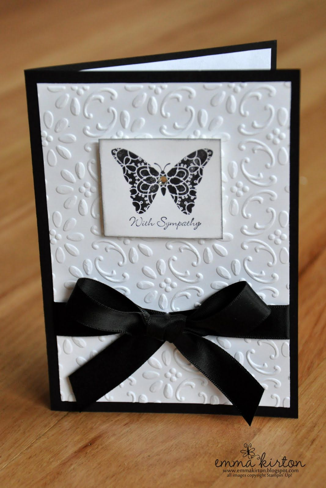 Creative Papercrafts Stampin Up Just Add Ink 71 Sympathy Card Sympathy Cards Handmade Embossed Cards Cards Handmade