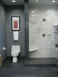 What S The Best Tile Layout For My Bathroom Straight Or Staggered Bathrooms Remodel Black Slate Floor Bathroom Inspiration