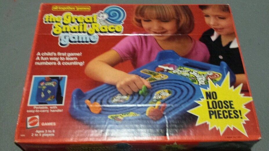 Vintage 1985 All Together Games The Great Snail Race Game by