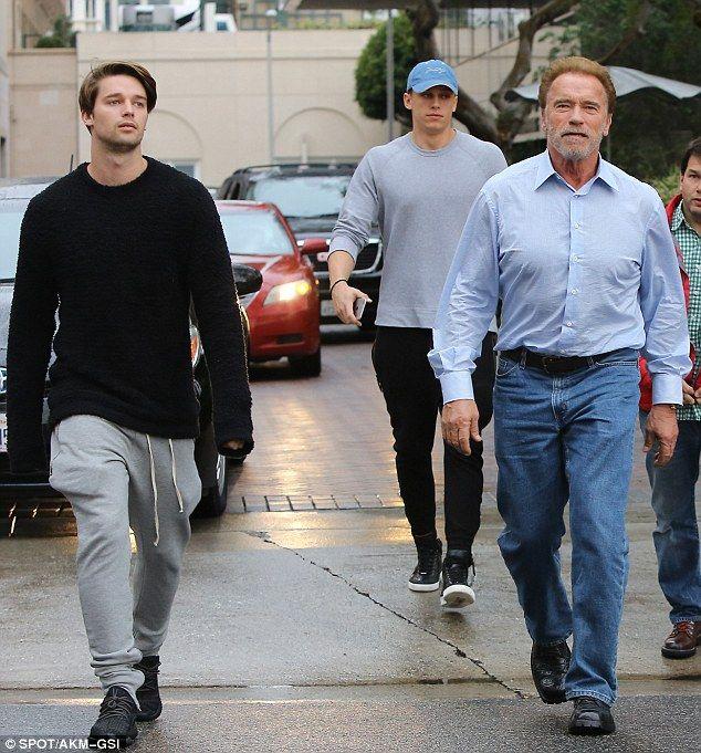 Arnold Schwarzenegger 68 Leaves Slimline Son Patrick In