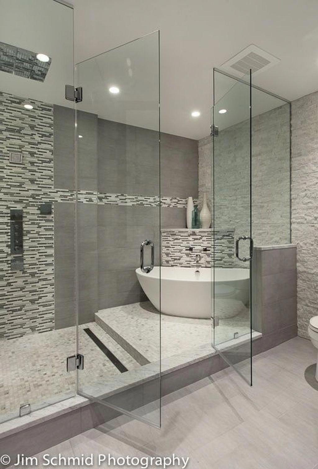 Stunning 30 Best Master Bathroom Shower Remodel Ideas To Try Bathroom Ideas Bathroom In 2020 Bathroom Remodel Shower Master Bathroom Design Bathroom Remodel Master
