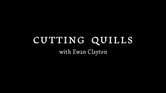 Ewan Clayton demonstrates how to cut a goose quill for writing. This is a quick demonstration from one of many public workshops at the Type@Cooper Program (June 8, 2013).