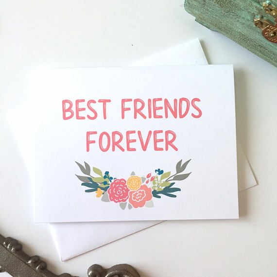 Best Friends Forever Friendship Card Bff Card Best Friend