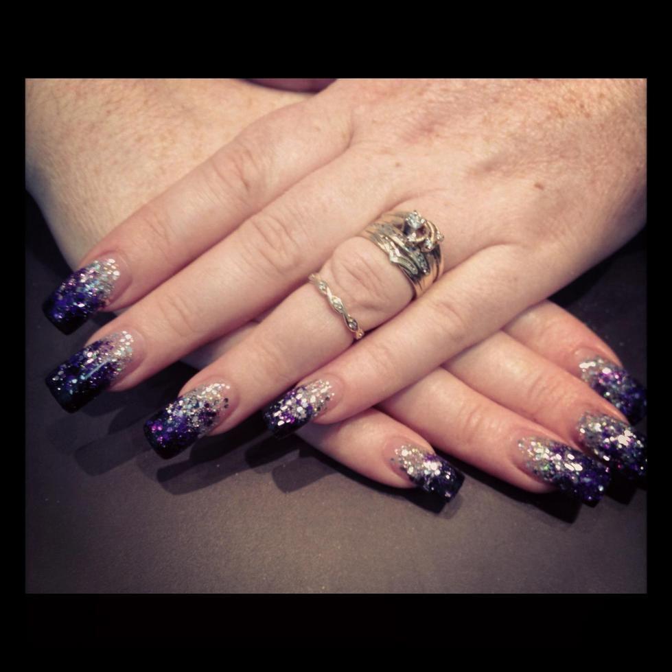 beautiful beautiful purple silver fade from the Nail Lounge in ...