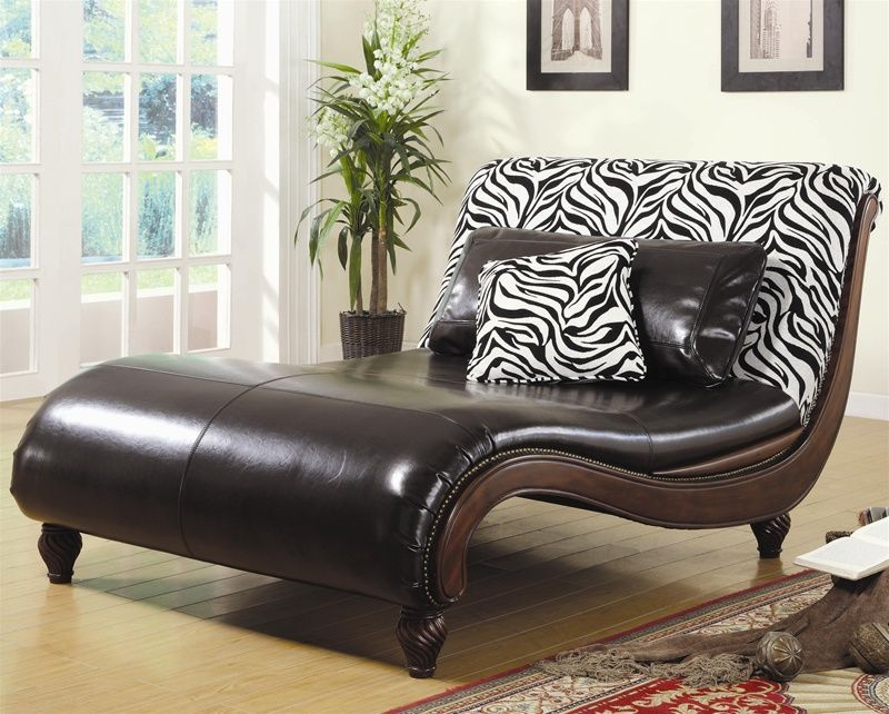 Zebra Animal Print Chaise Lounge By Coaster 550061 In