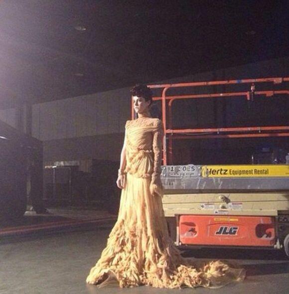 Johanna behind the scenes
