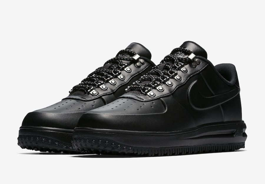 Release Date Nike Lunar Force 1 Duckboot Low Triple Black Kicksonfire Com Nike Free Shoes Casual Sport Shoes Sneakers