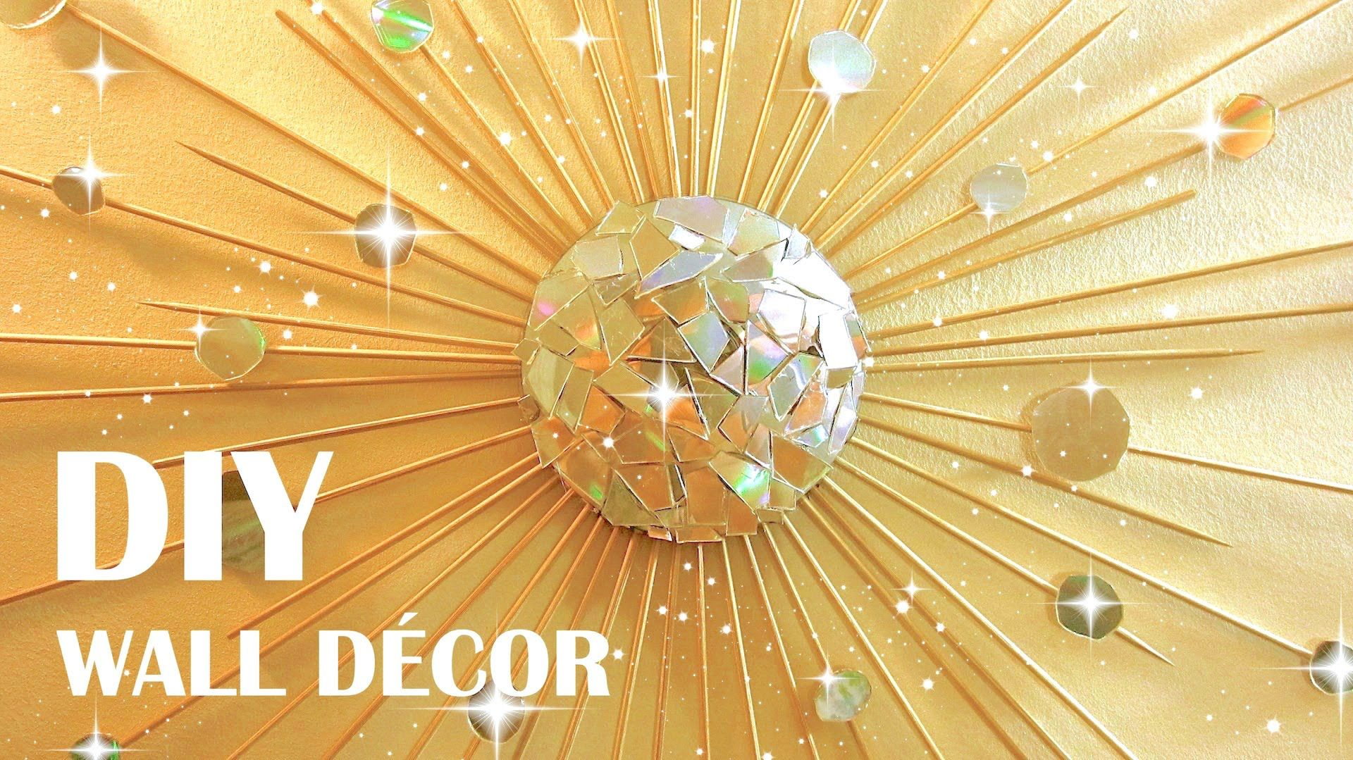 Turn Old CDs into Wall Decor | DIY Room Decor | DIY Wall Decor | DIY ...