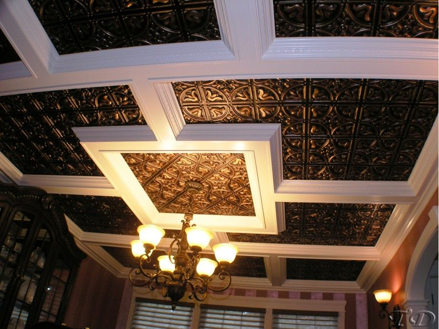 Plastic Decorative Faux Tin Ceiling Tiles And Wall Panels 148