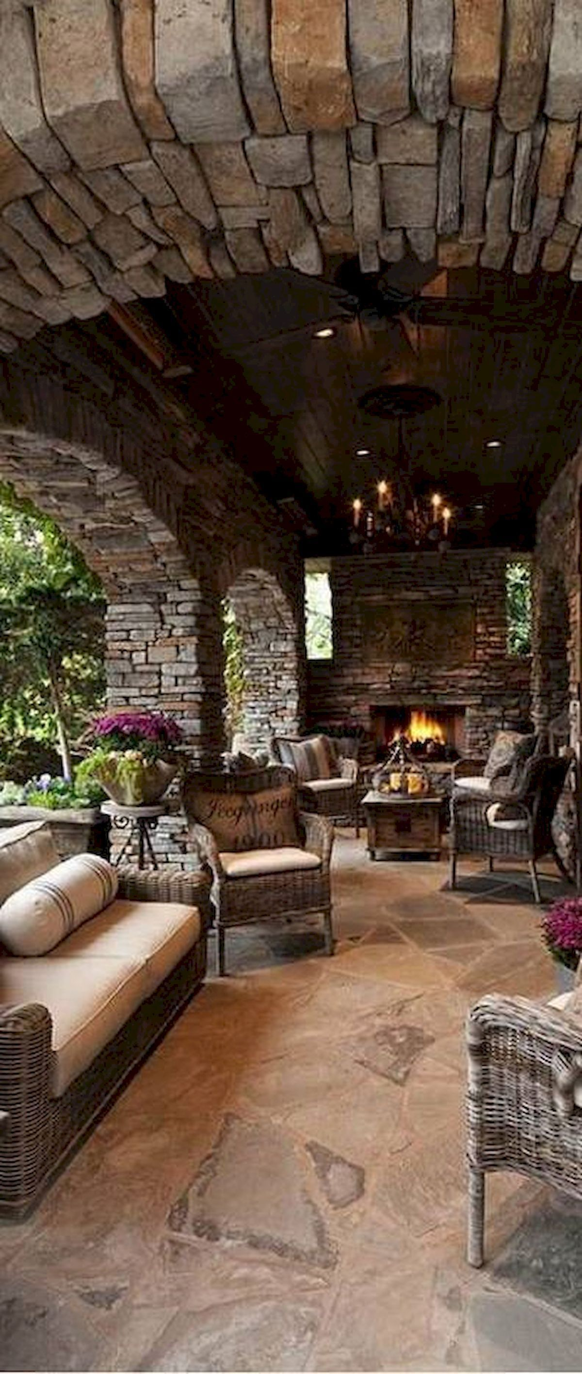 rustic outdoor living room for hom | 25+ Rustic Living Room Ideas To Fashion Your Revamp Around ...