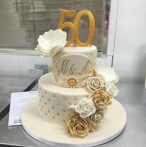 Cake 50 Anos Tortas De Aniversario De Bodas Pastel De Bodas De