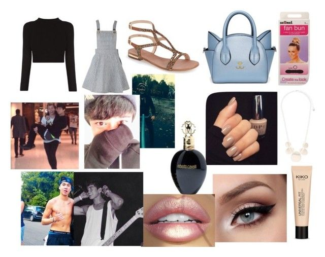 """London with Calum"" by larryandtarillforeverr14 ❤ liked on Polyvore featuring Vince Camuto, scunci and Roberto Cavalli"